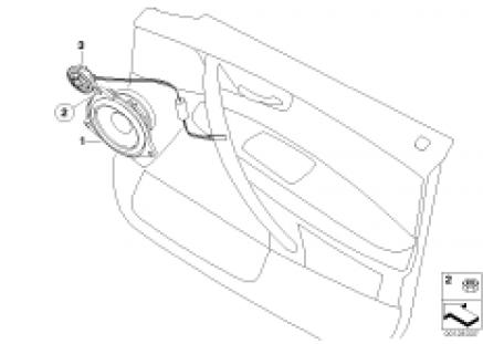 Single parts f front door hifi system