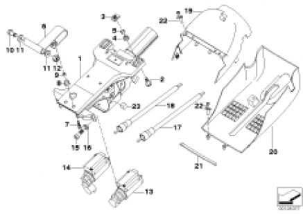 Steering wheel column adjustment,electr.