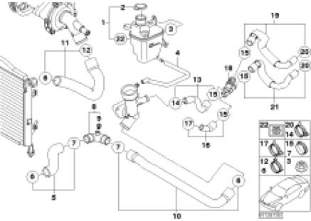 Expansion tank/coolant hoses
