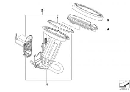 Fuel filter /Fuel level sensor left