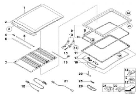 Folding top electr., spare parts