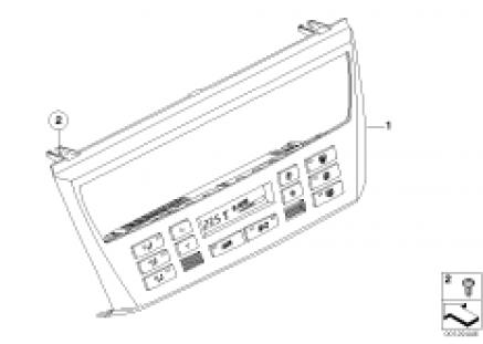 Control unit, automatic air cond.,AUC