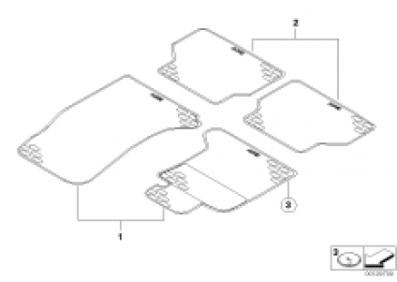 Floor mat, rubber