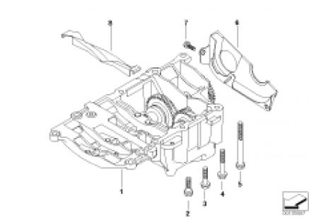 Crankshaft drive mass compensator