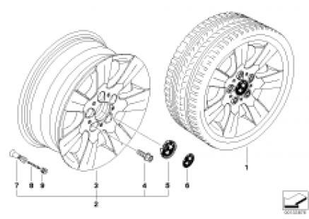 BMW light alloy wheel, star spoke 169