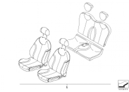 Leather retrofit sports seat MONO
