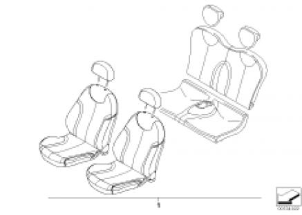 Leather retrofit sports seat STRIPES