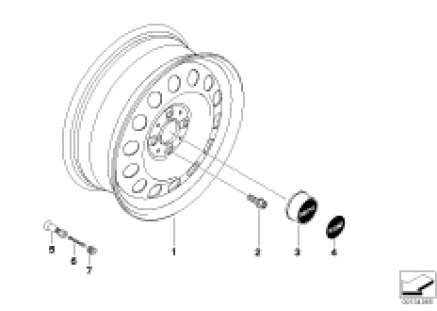 MINI steel disc wheel style 12