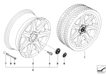 BMW light alloy wheel, star spoke 170