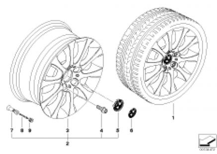 BMW light alloy wheel, star spoke 171