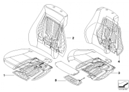 Electric parts for seat heating