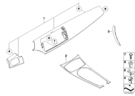 Interior moldings Carbon