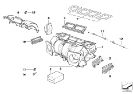 Housing parts automatic air conditioning