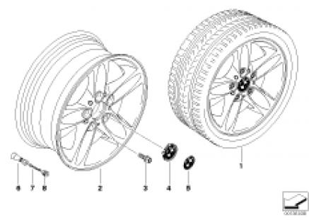 BMW light alloy wheel, spider spoke 140