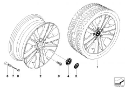 BMW light alloy wheel, V-spoke 141