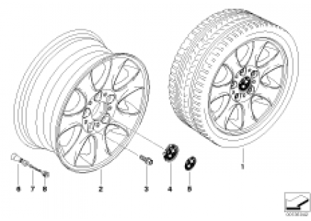 BMW light alloy wheel, spider spoke 151