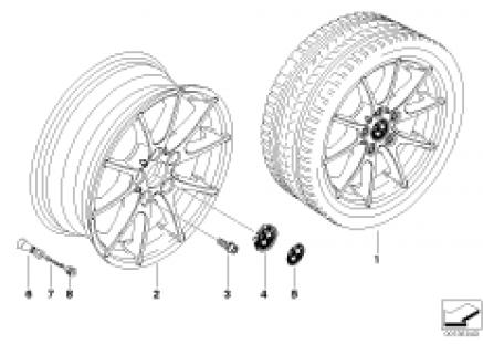 BMW LA wheel/double spoke 178