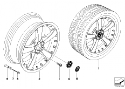 BMW Composite wheel, star spoke 179
