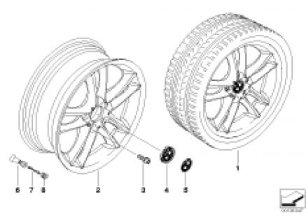 BMW LA wheel/double spoke 182
