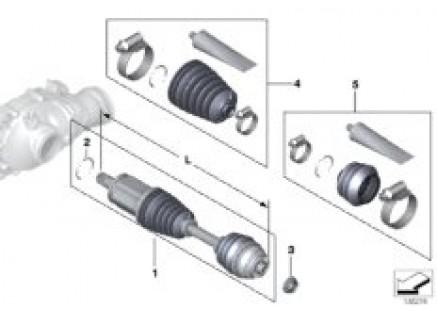 Final drive(frnt axle),output shaft,4whl
