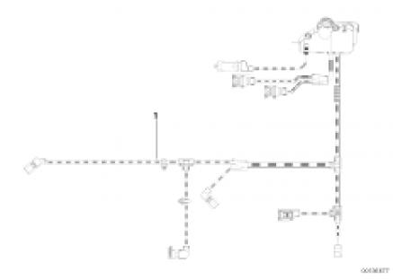 Engine wiring harness, engine module