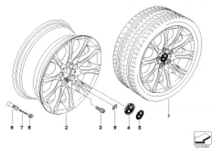 BMW alloy wheel, M double spoke 135