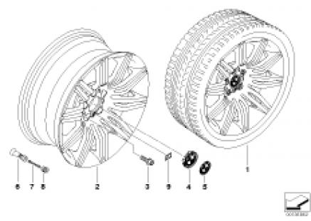 BMW alloy wheel, M double spoke 172