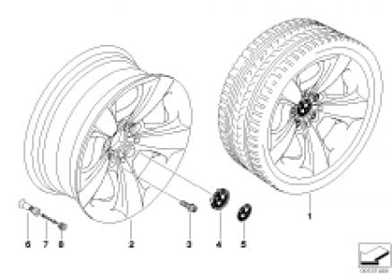 BMW LA wheel, star spoke 117
