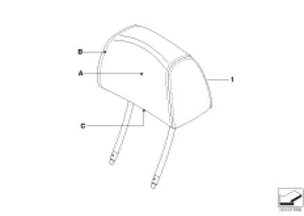 Ind. headrest, sports seat, front