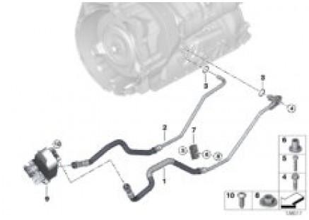 Oil-cooler pipe/heat exchanger
