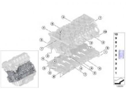 Cylinder crankcase/Heli-Coil insert