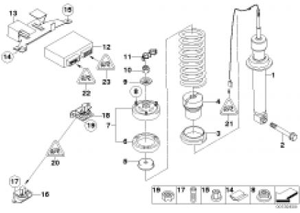 Rear spring strut EDC/ctrl unit/sensor