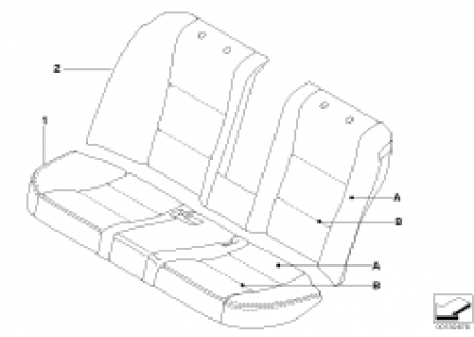 Individual sports seat cover, rear