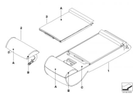 Ind.armrest load-through syst.basic seat