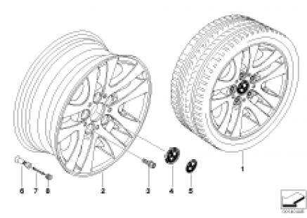 BMW alloy wheel, double spoke 156
