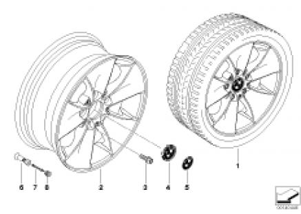 BMW light alloy wheel, spider spoke 155