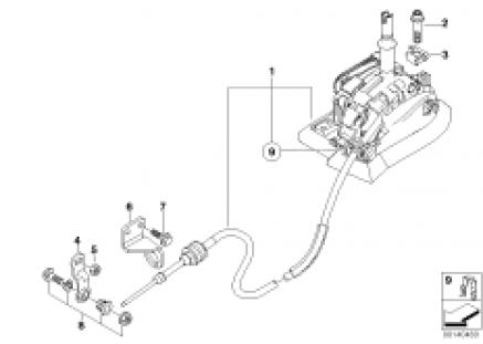 Autom.transmiss.steptronic shift parts