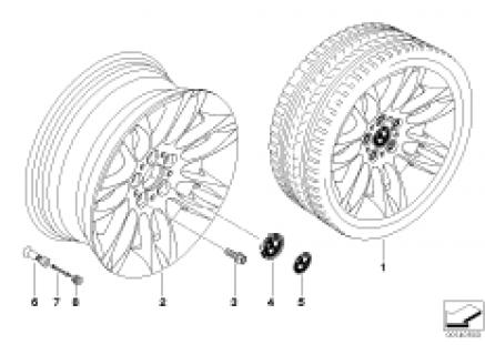 BMW LA wheel/double spoke 195