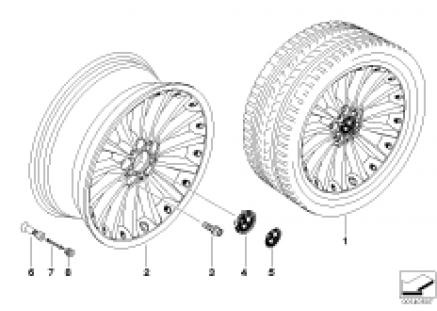 BMW composite wheel, radial spoke 198