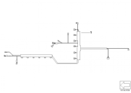 Cable harness injection valve/ignition
