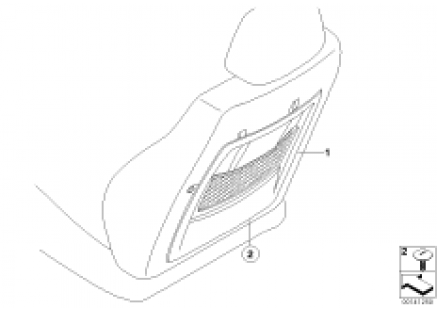 Retrofit, net bag at seat backrest