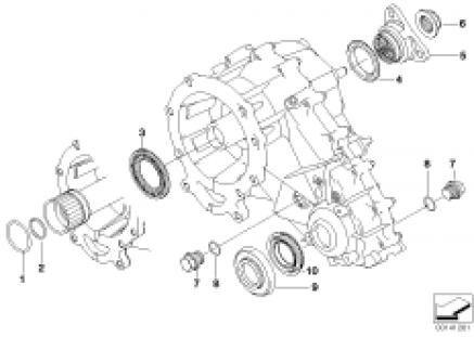 Single parts f transfer case NV 125