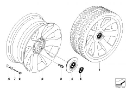 BMW light alloy wheel, spider spoke 175