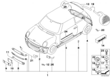 JCW aerodynamics package ¿ R 50, R53