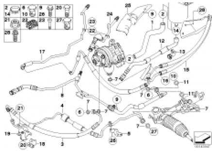 Power steering/oil pipe/dynamic drive