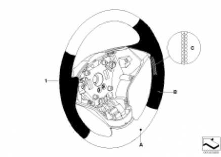 Indiv. sports steering-wheel, bicolor