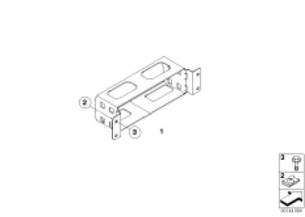 Support bracket, navigation computer