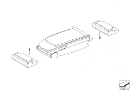 Control unit center console/armrest
