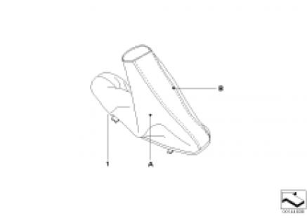 Individual handbrake lever and cover