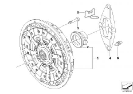 Clutch/twin mass flywheel